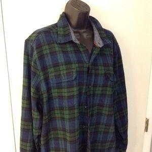 Woolrich XL 100% cotton plaid flannel shirt
